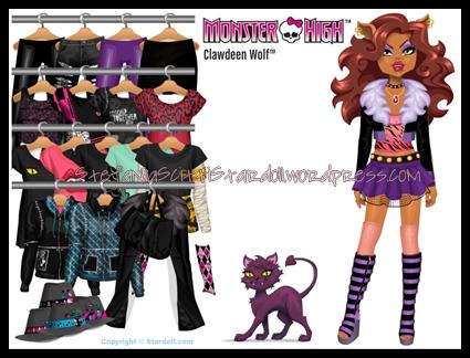 Dolls para vestir de Monster Highpulsa la imagen para vestirlas