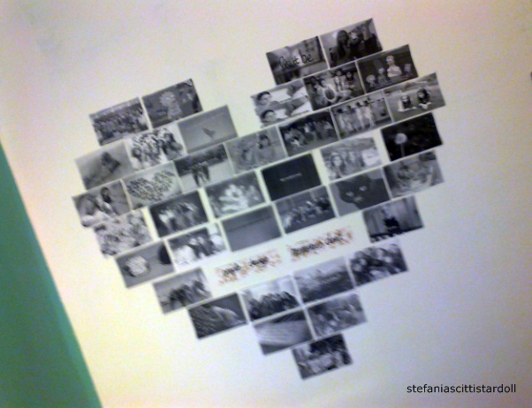 Collage de fotos en forma de coraz n - Collage de fotos para pared ...