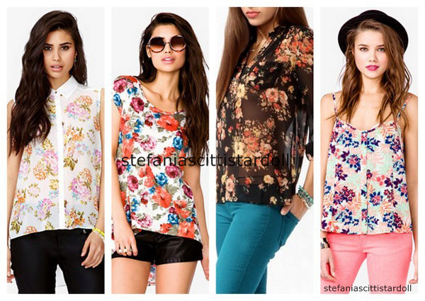 como-combinar-ropa-estampada-floral